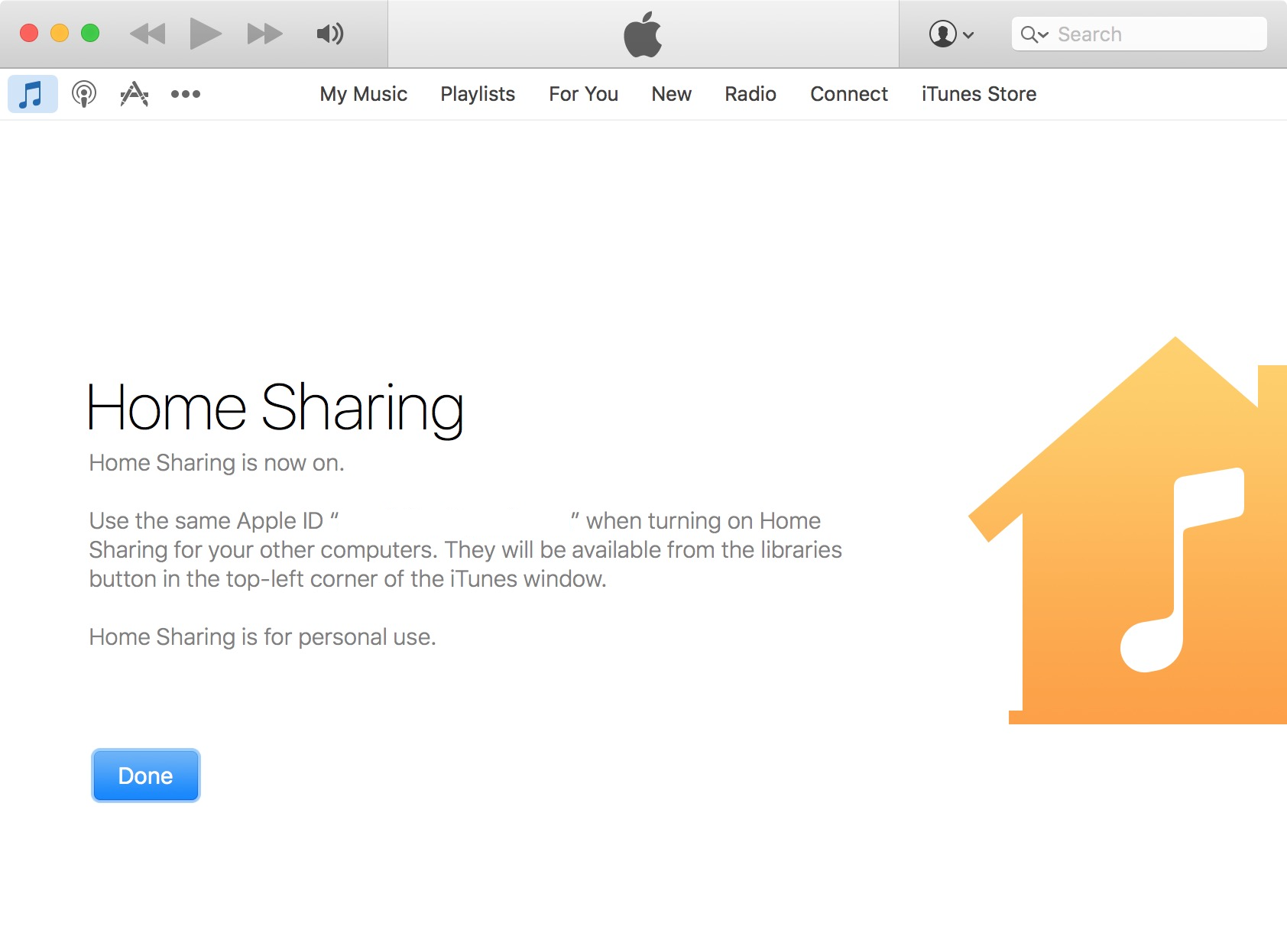 home sharing On iTunes