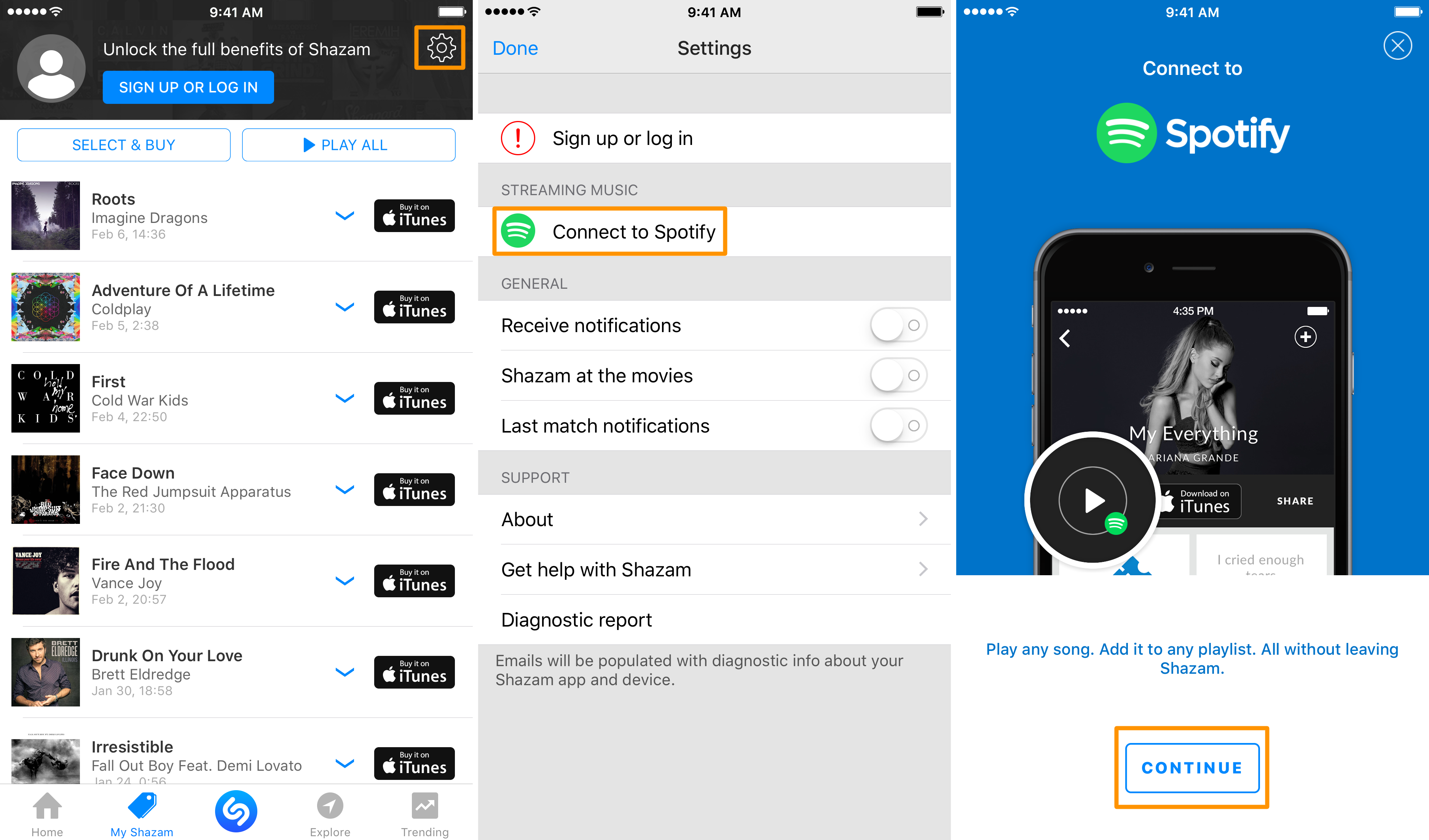 how to link spotify to shazam guide