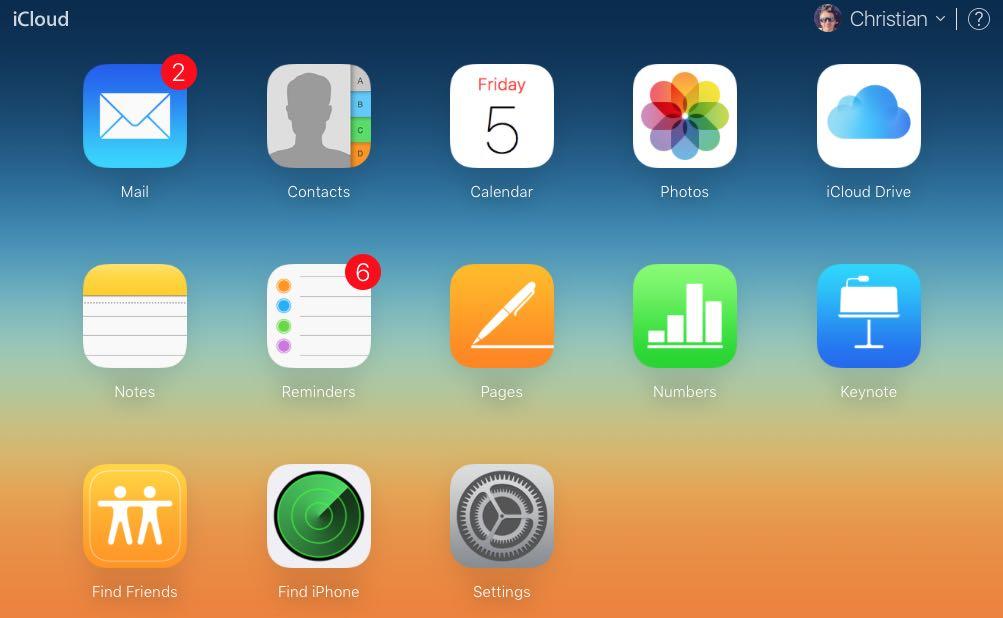 iCloud homepage web screenshot 001