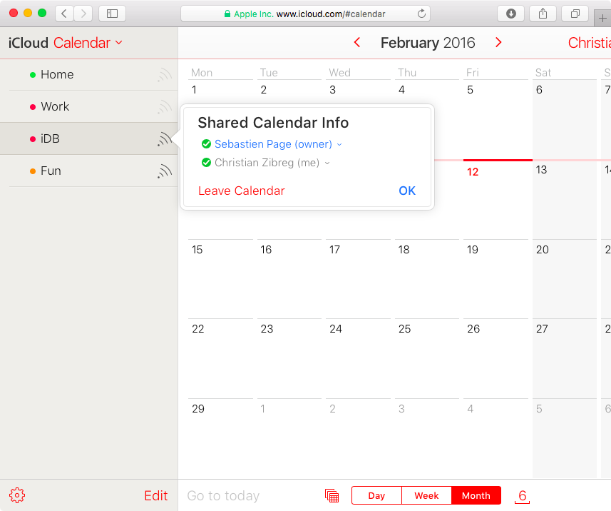 Unsubscribe from Calendar on iCloud