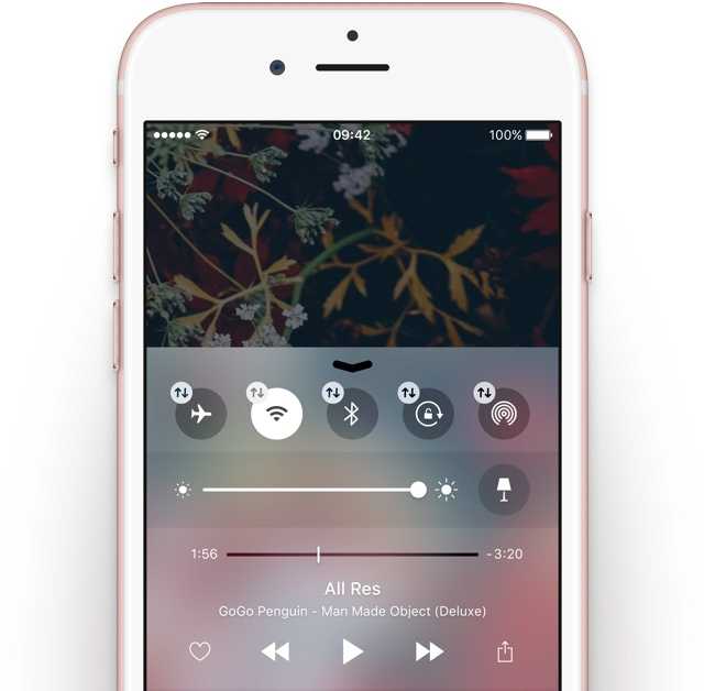 iOS 10 Control Center concept Sam Beckett image 002