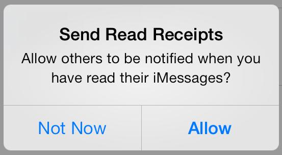 Send iMessage Read receipts