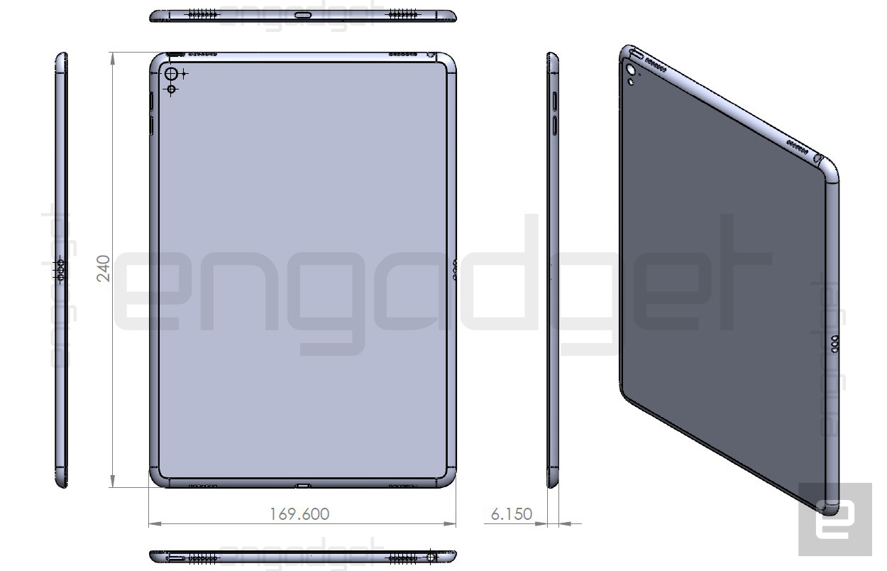 iPad Air 3 design drawing leak Engadget 001