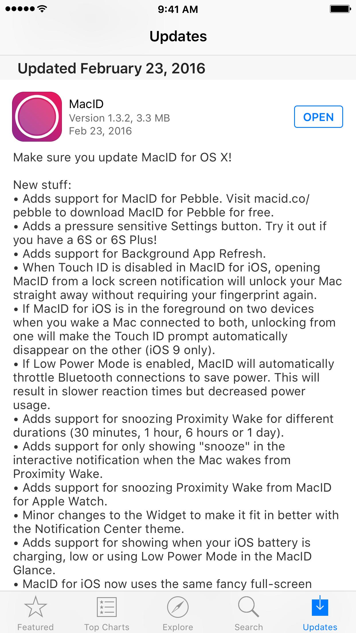 MacID 1.3.2 for iOS App Store Update