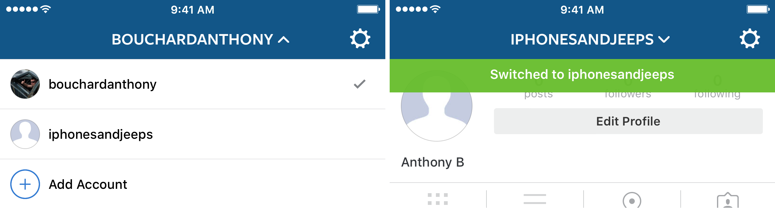 cuenta de instagram que cambia 2