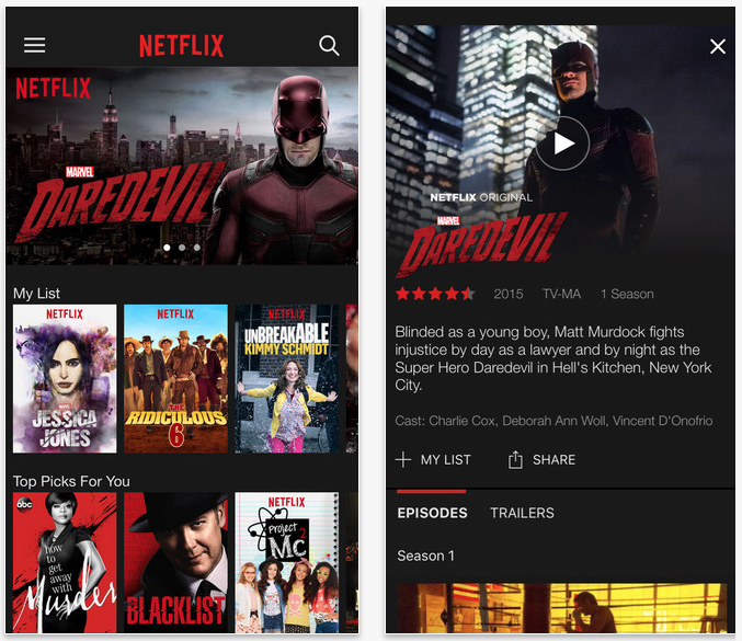 Netflix app updated with support for 3D Touch, iPad Pro and more