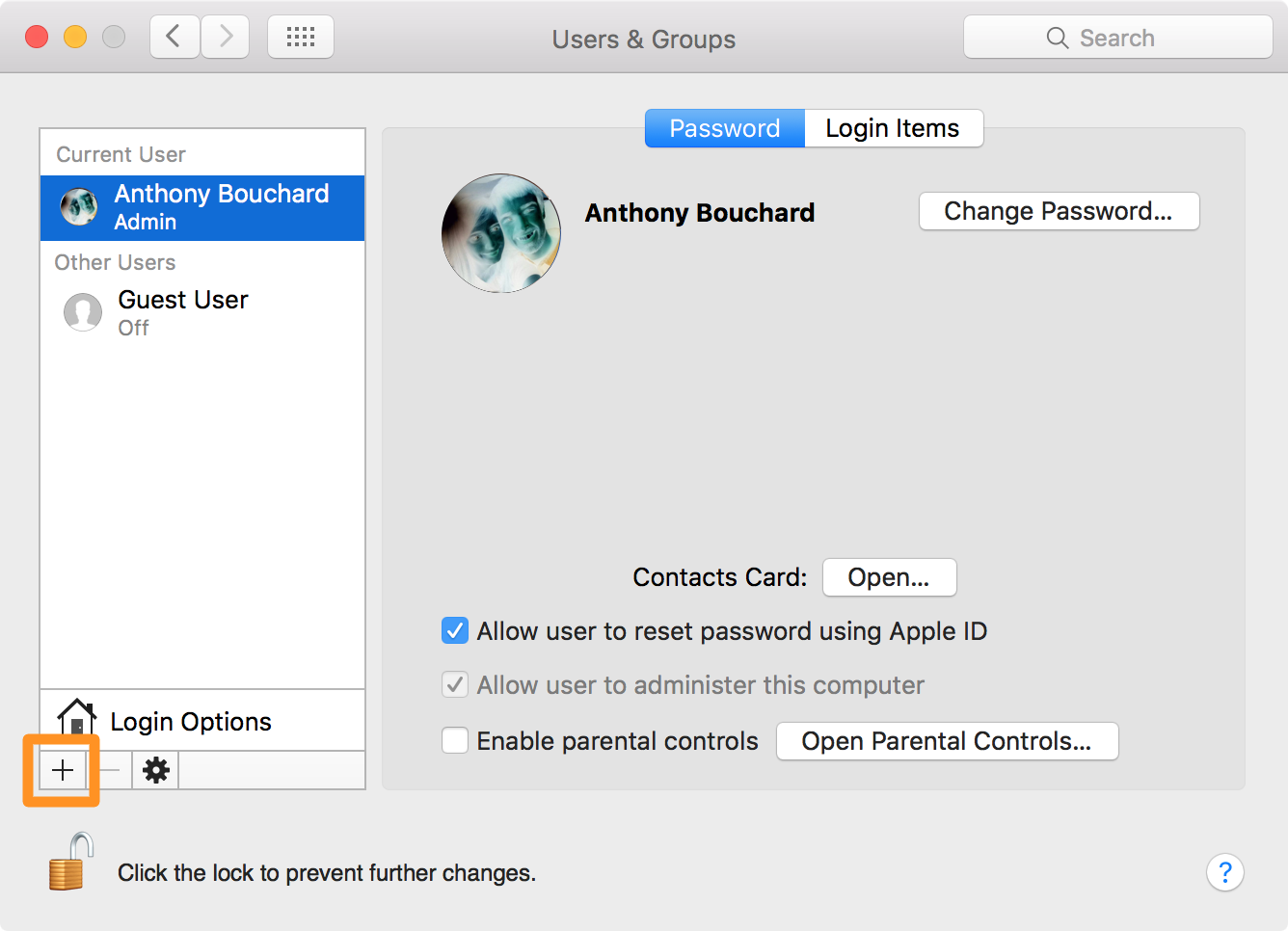 os x troubleshooting guide add new user account