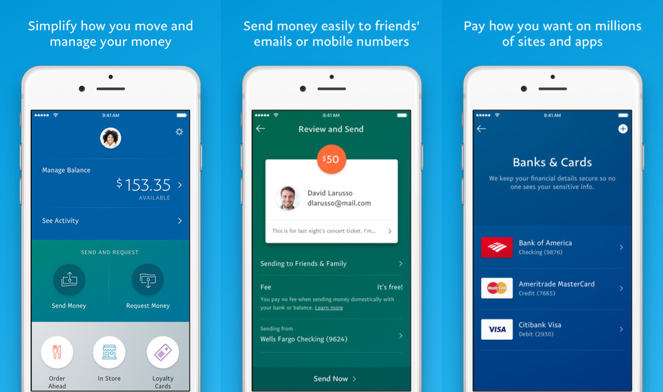 paypal app redesigned