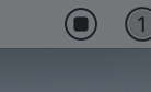 Stop recording menu bar button