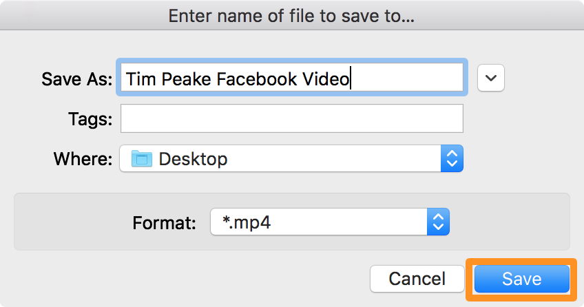 save facebook video step 8