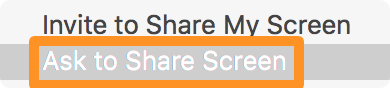 Ask to share screen
