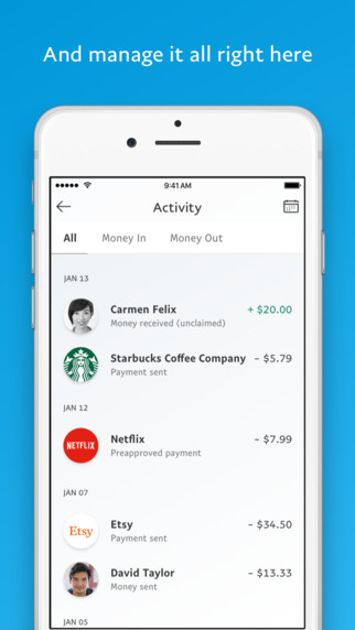 paypal profile pictures in redesigned app