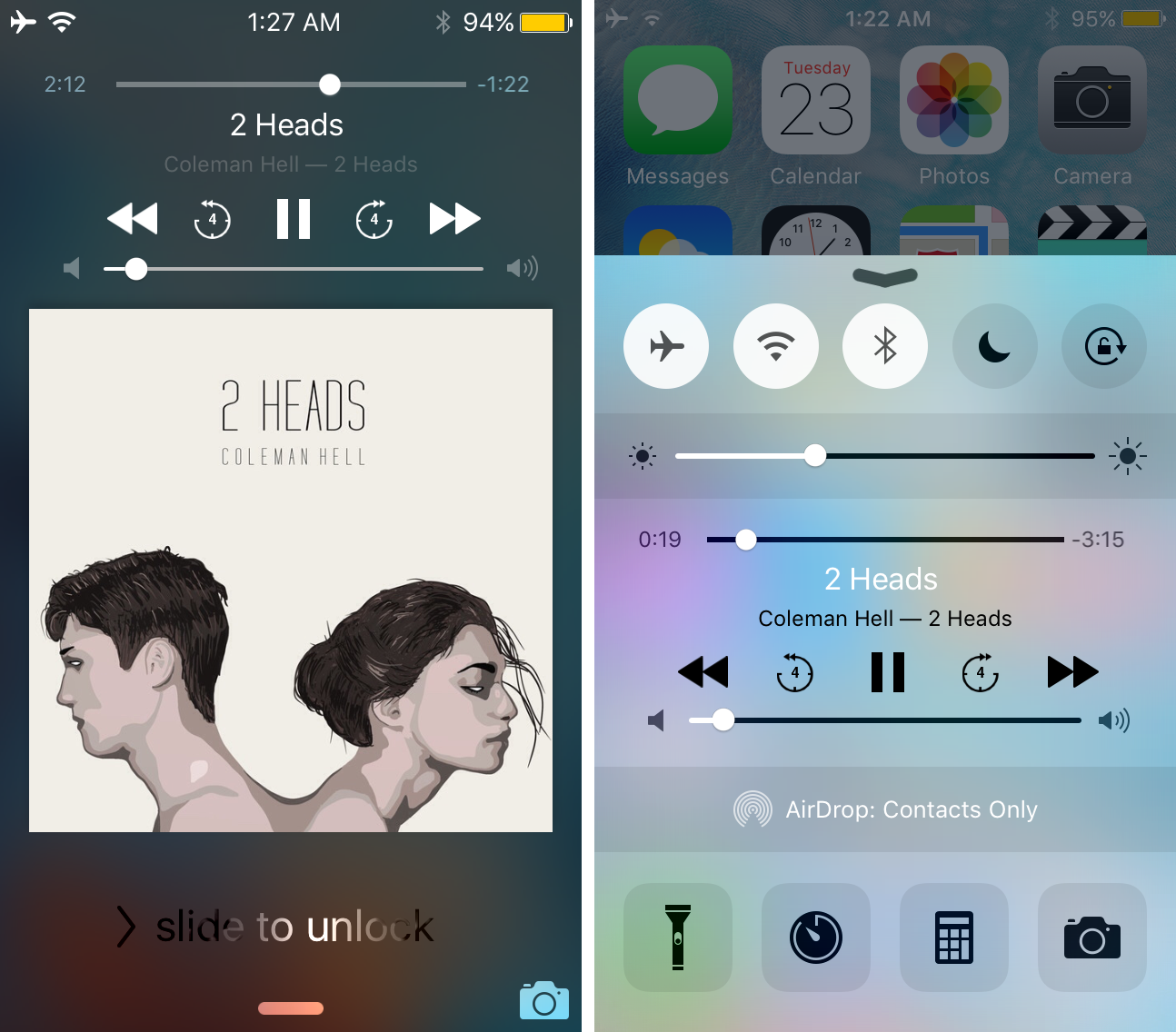 seeker podcast like scrubbing for music lock screen and control center
