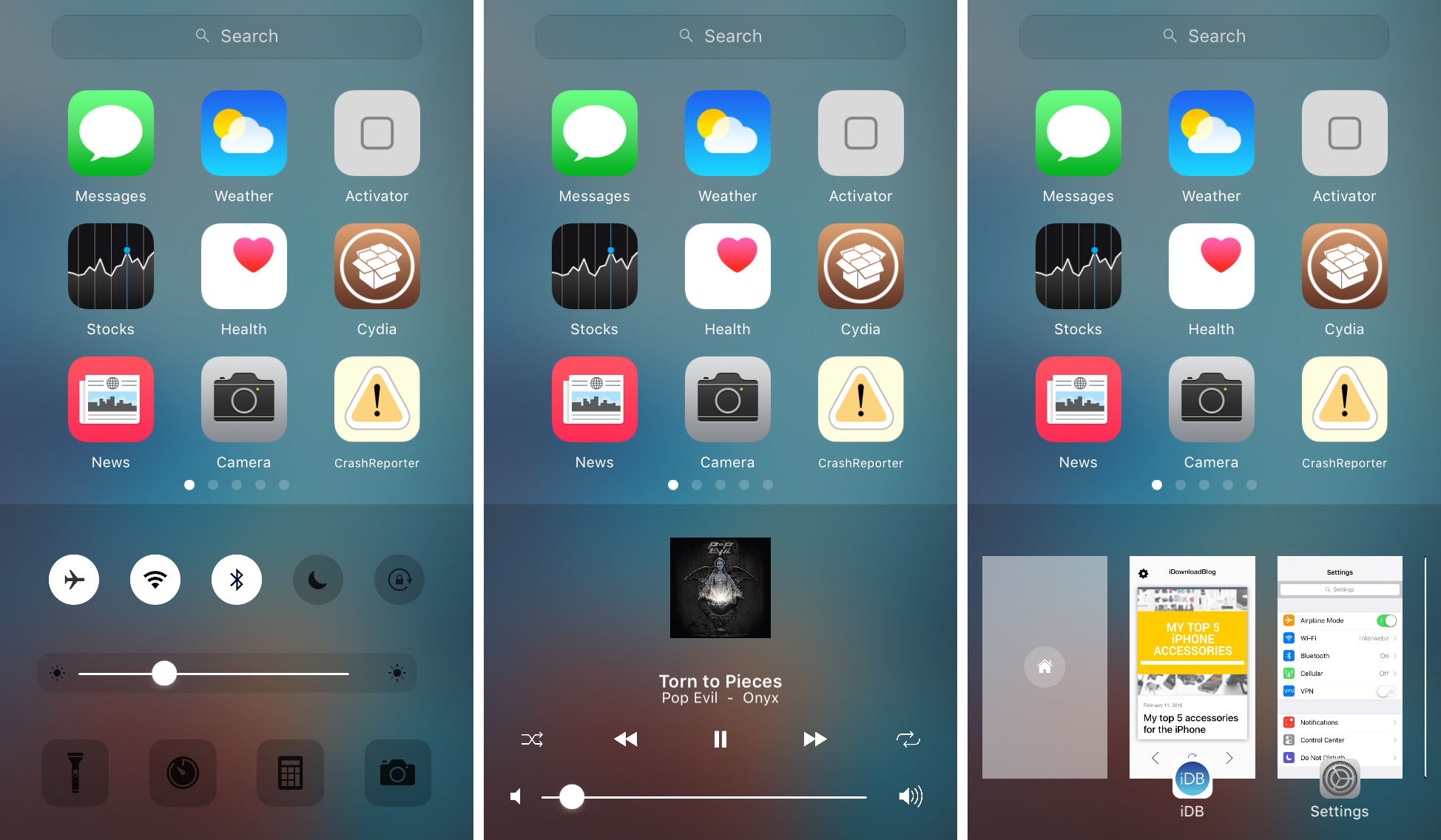 zentrum app switcher and control center replacement