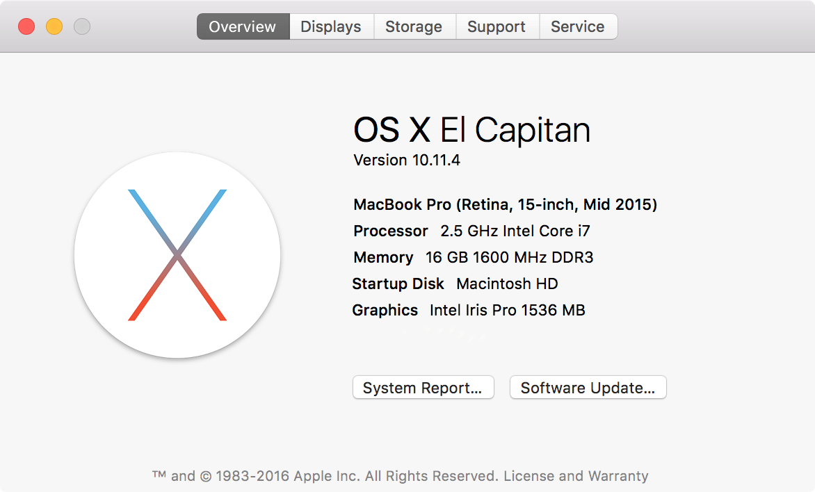 mac is running slowly - check memory