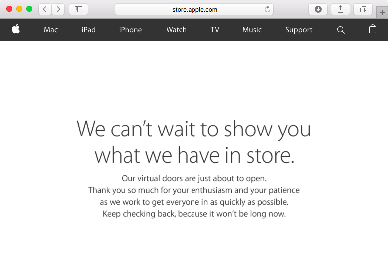 Apple Store Offline March 2016 event