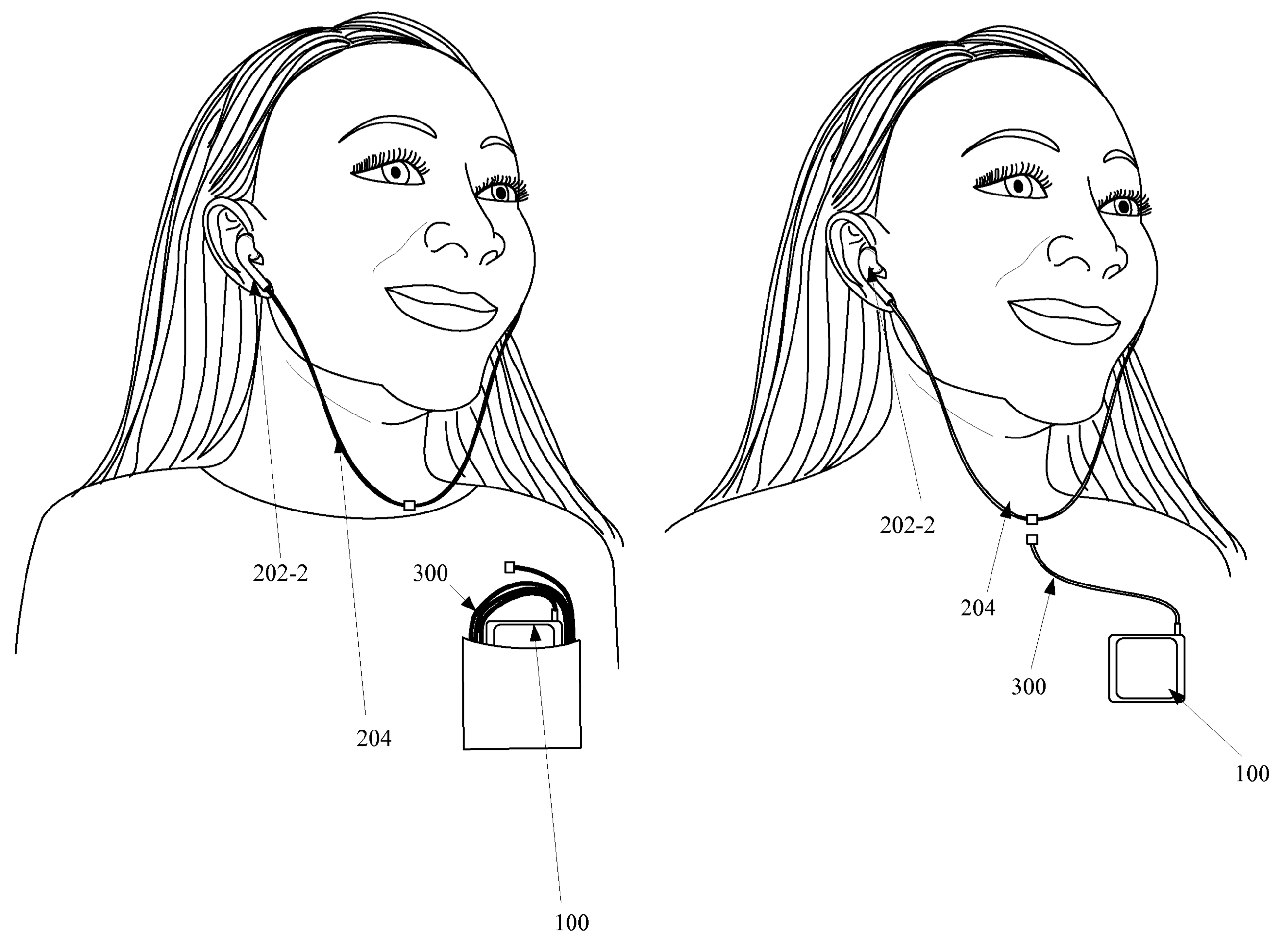 Apple patent magnetically detachable earbuds for iPhone drawing 002