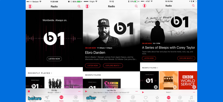 Beats 1 Radio tab new features iPhone screenshot 001