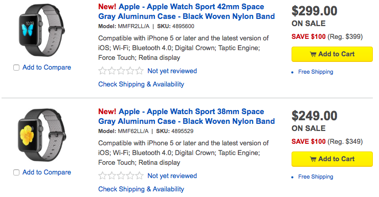 Best Buy Apple Watch discounts web screenshot 001