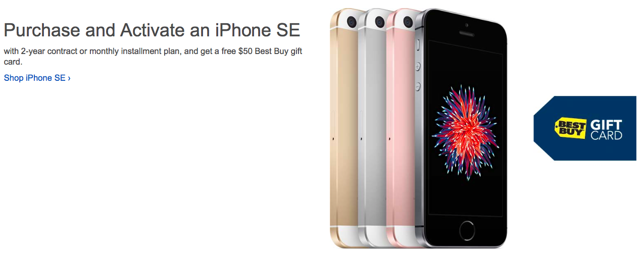 Best Buy iPhone SE deal web screenshot 001
