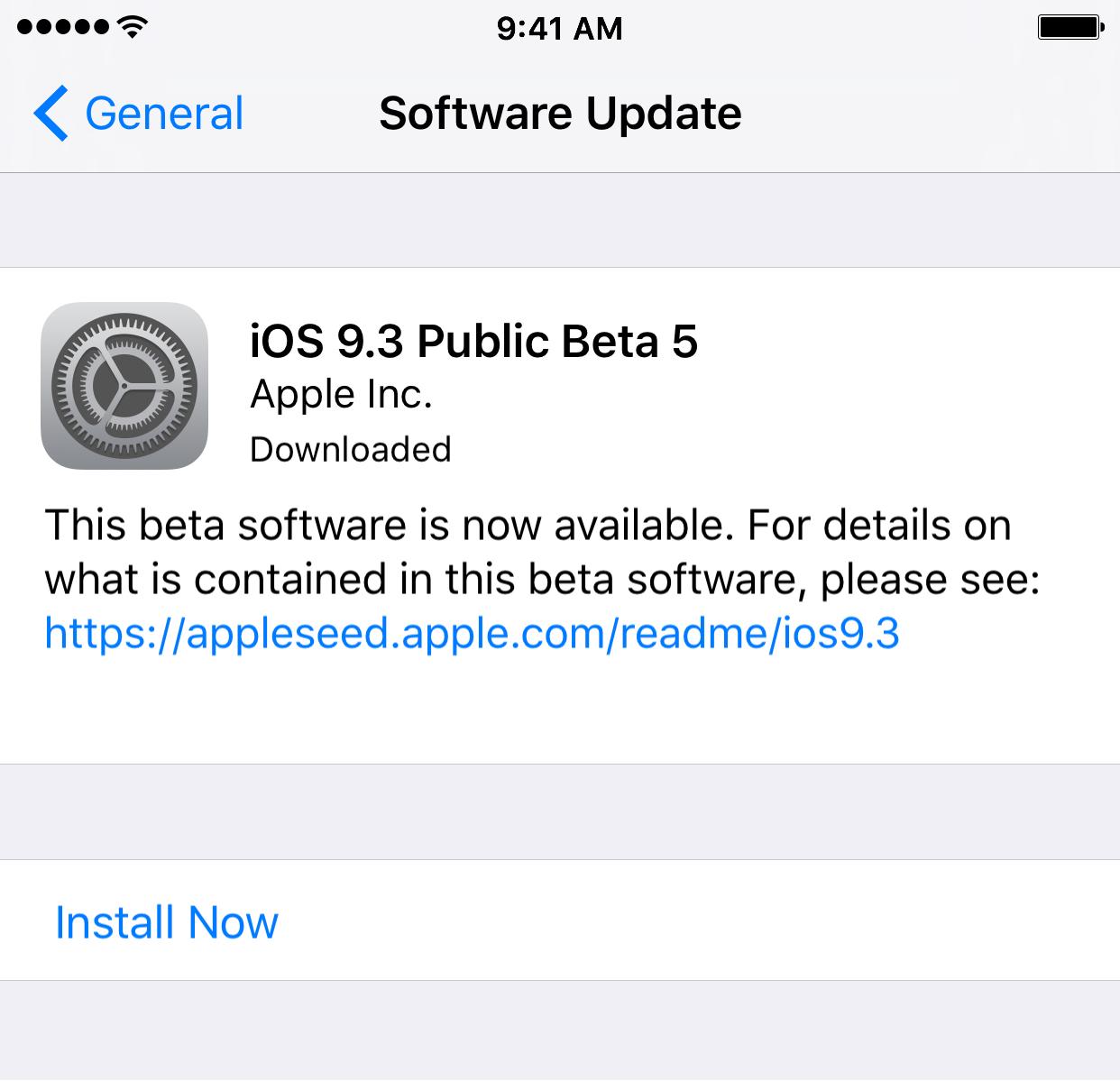 Buscar actualizaciones en iOS