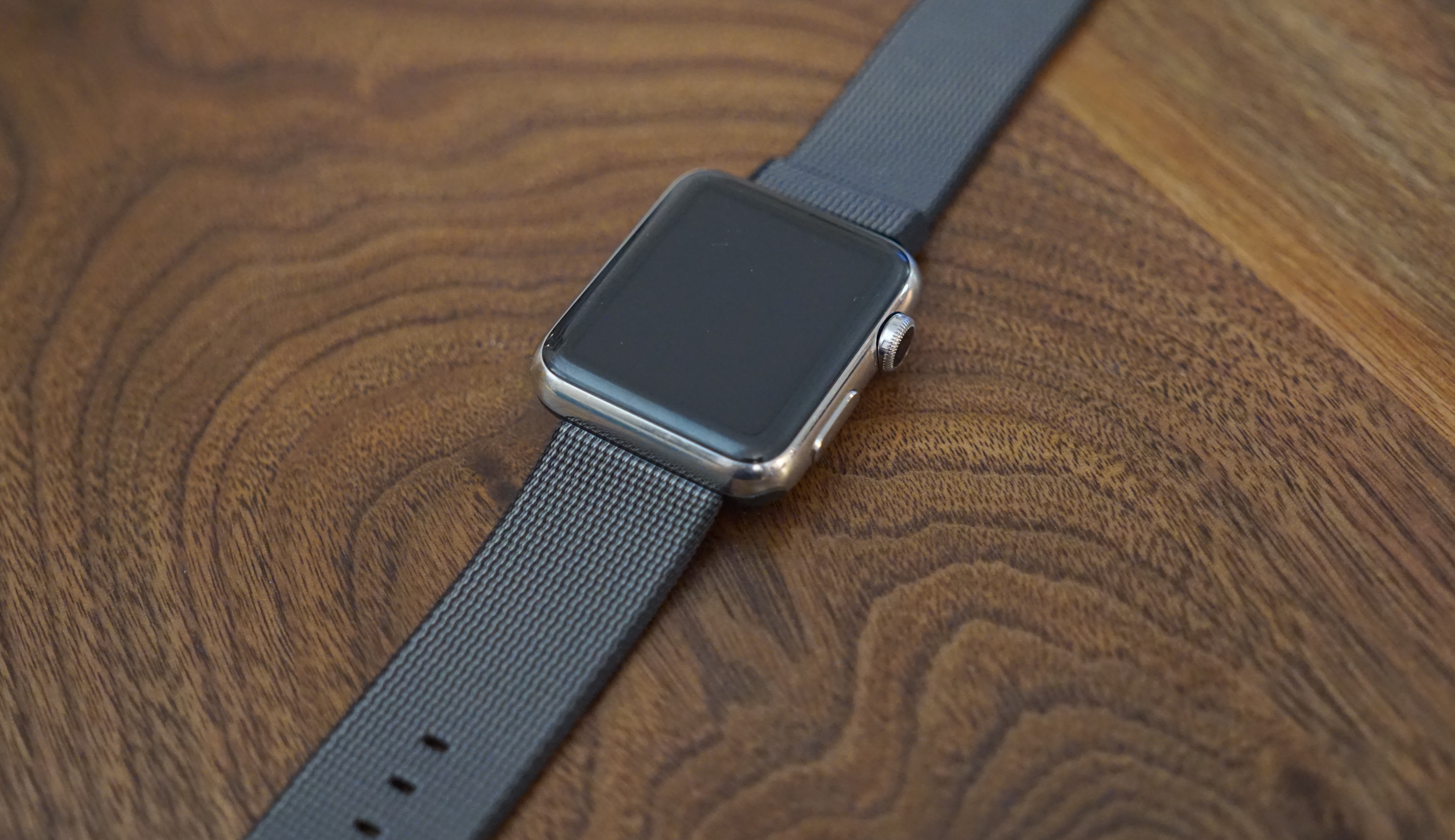 Black Nylon Apple Watch Strap