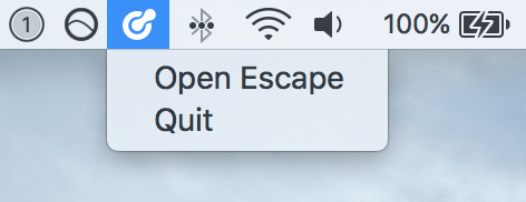 Escape Menu Bar Icon