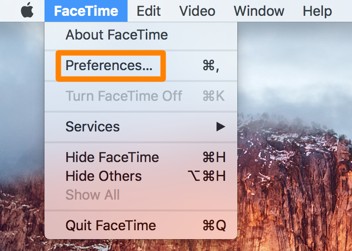 FaceTime preferences pane