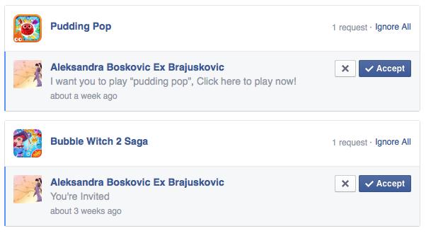 cómo detener el juego invita teaser en Facebook