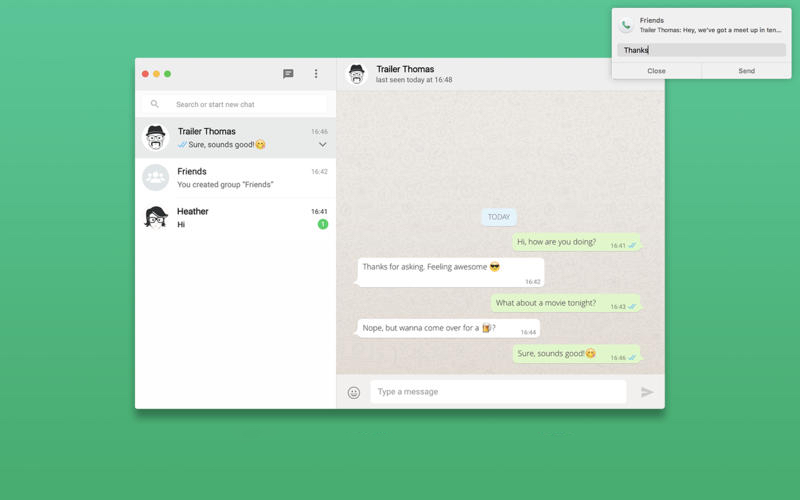 Whatsapp free download for mac laptop