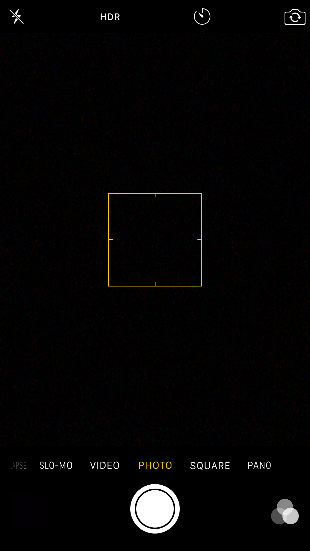 iPhone Camera problems - black view finder