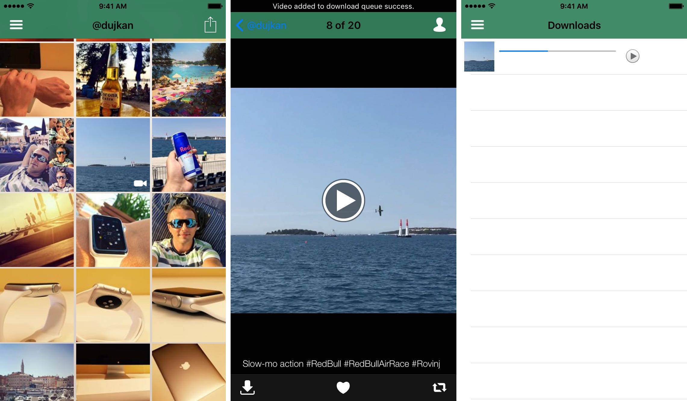 InstaBoard for iOS save Instagram video iPhone screenshot 001