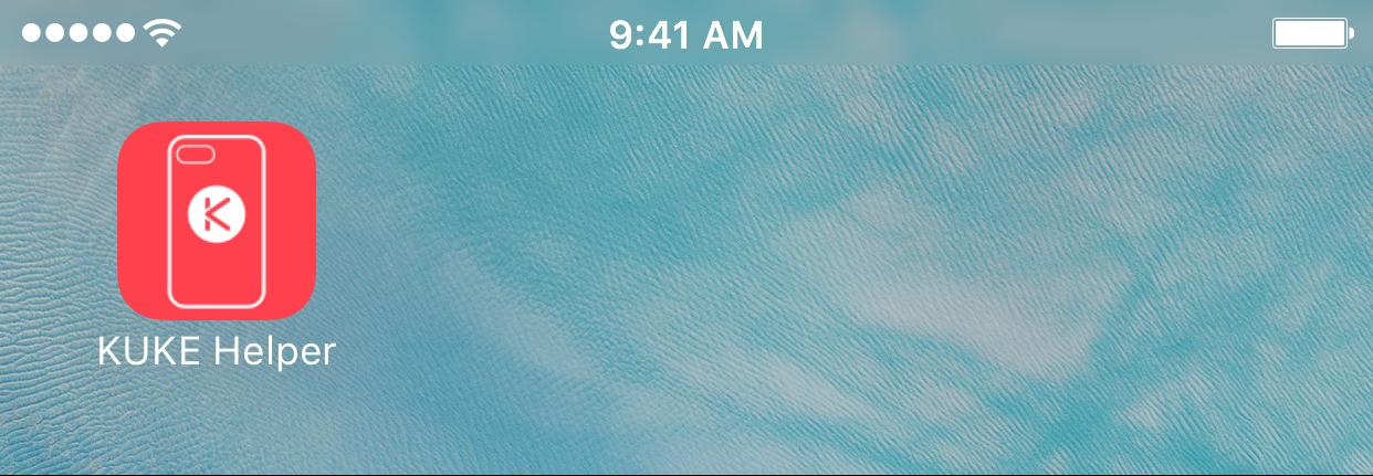 KUKE Helper iOS App on Home Screen