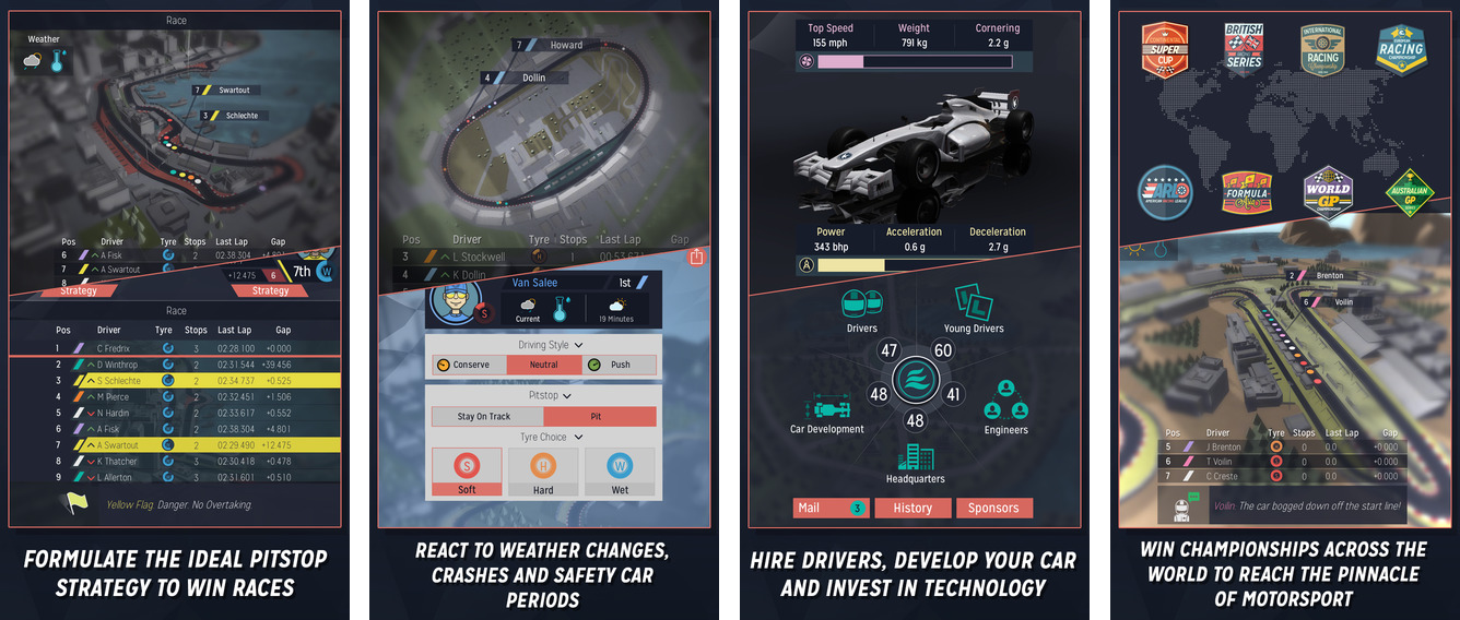 Motorsport Manager 1.0 for iOS iPhone screenshot 001