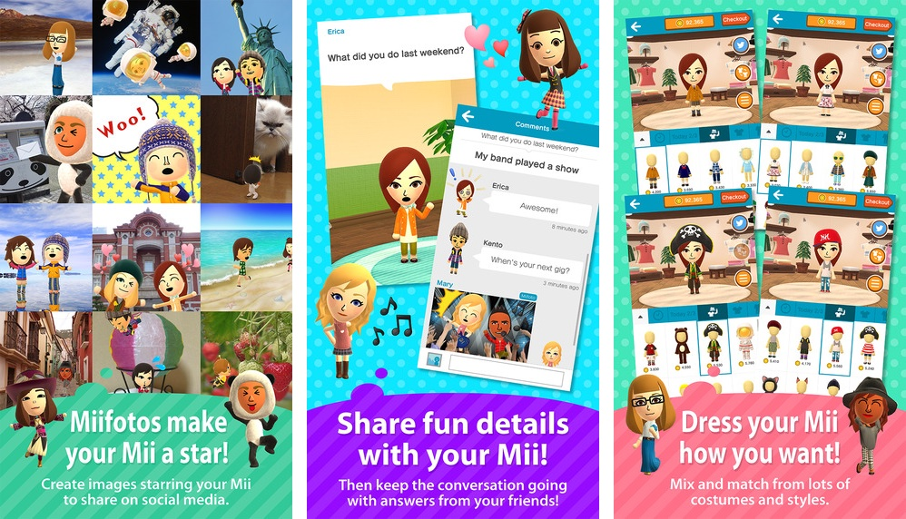 Nintendo Miitomo for iOS iPhone screenshot