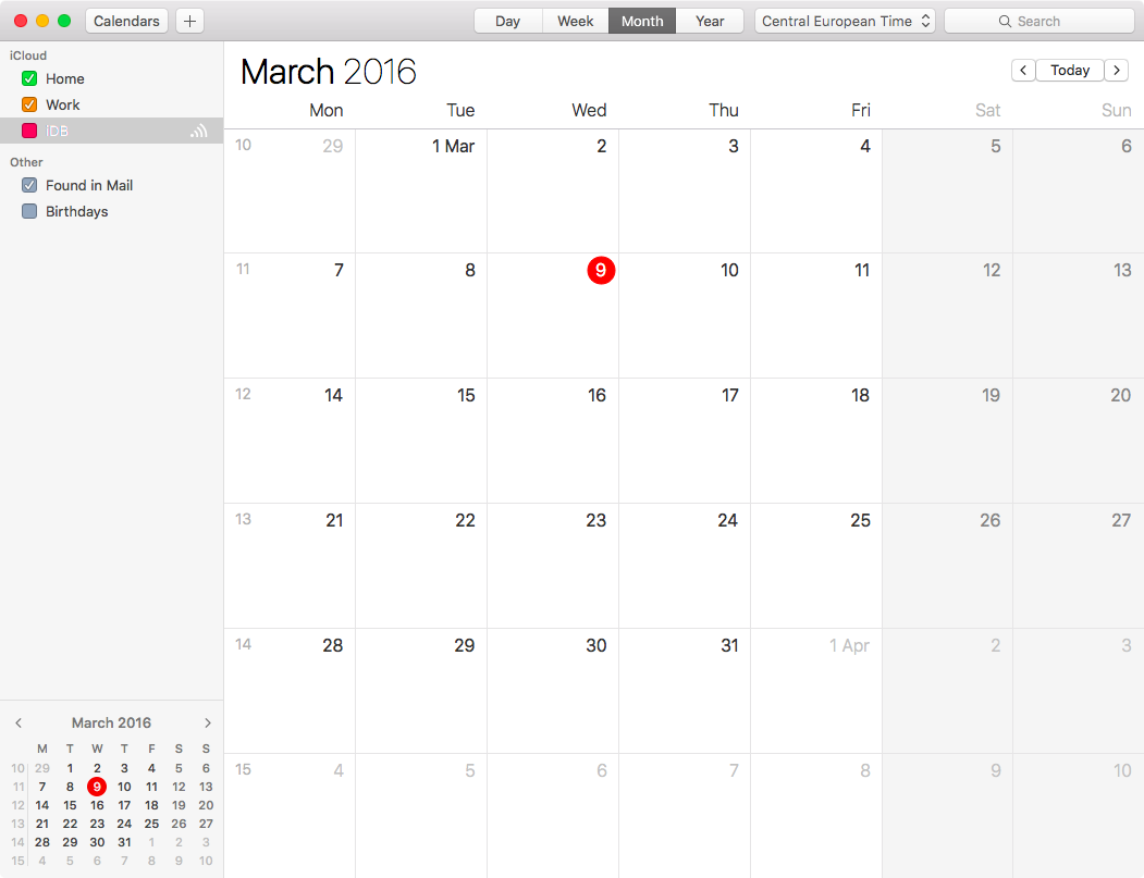 View week numbers in Mac's Calendar app
