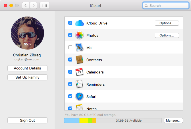 Change iCloud profile picture on Mac