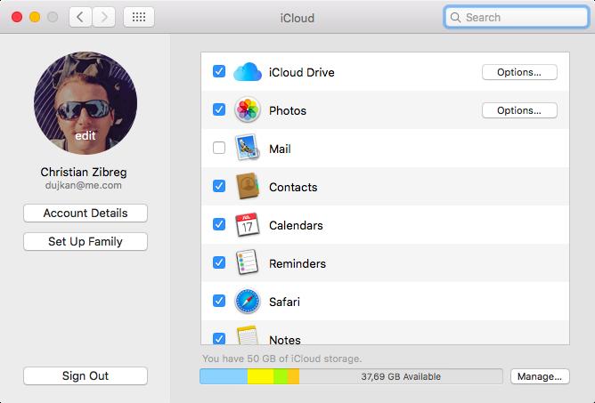 Cambiar la imagen de perfil de iCloud en Mac