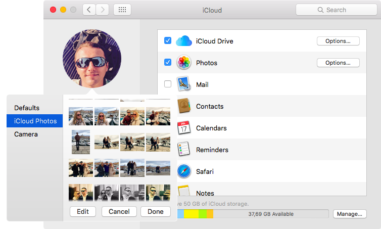 New iCloud profile Photo in macOS