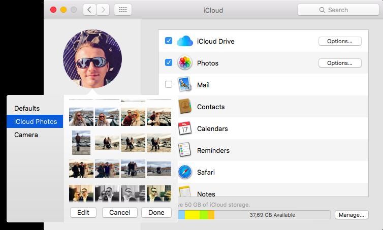 Nueva foto de perfil de iCloud en macOS