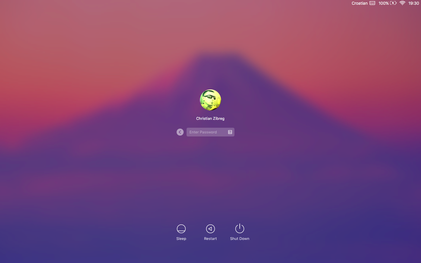 OS X El Capitan login profile image Mac screenshot 002