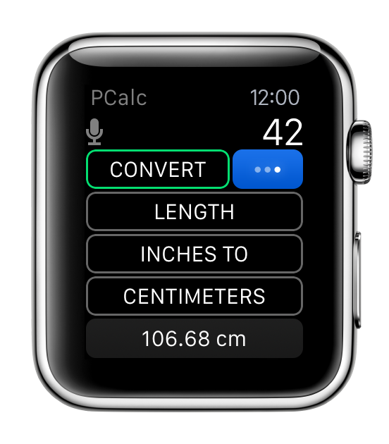 PCalc for watchOS Apple Watch screenshot