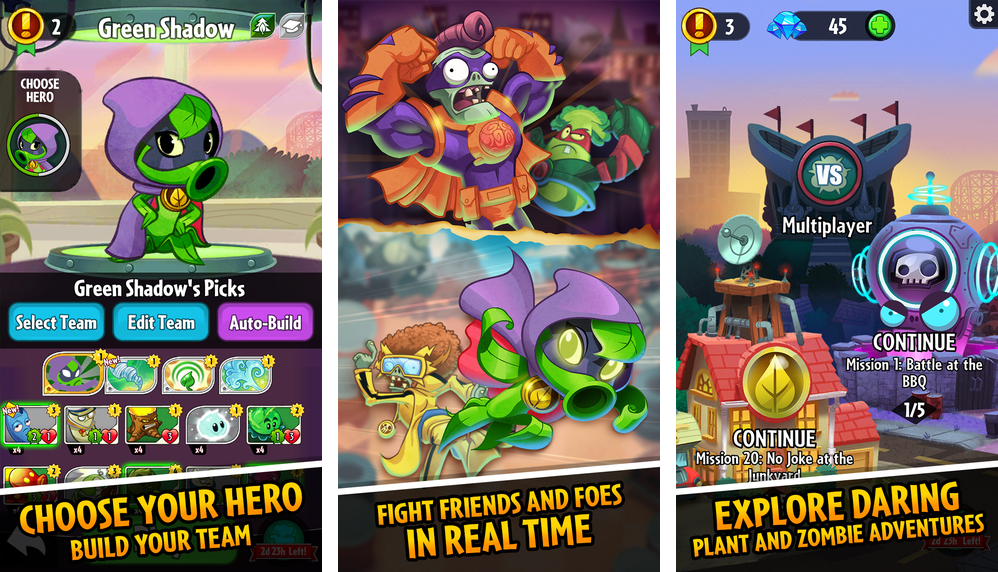 Captura de pantalla 001 de Plants vs Zombies Heroes para iPhone