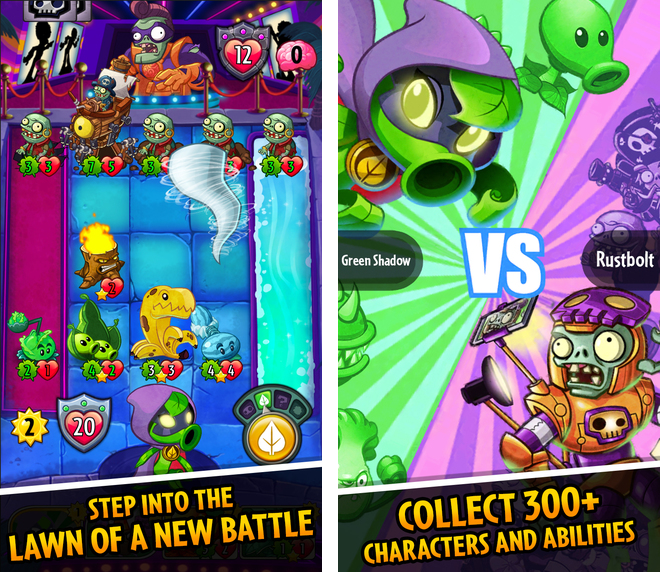 Captura de pantalla 002 de Plants vs Zombies Heroes para iPhone