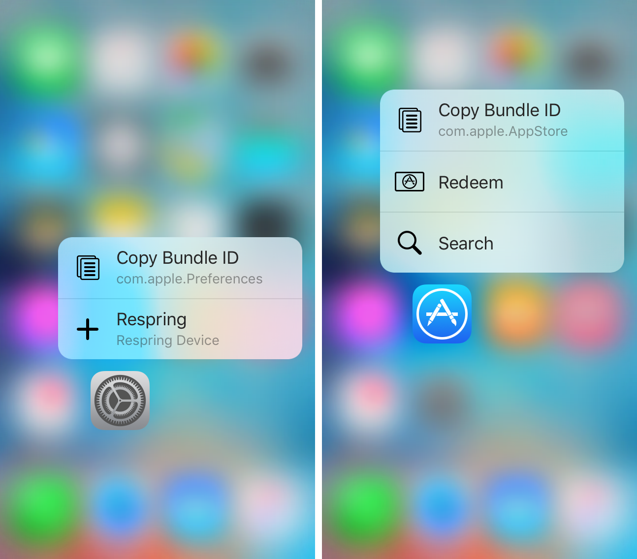 portable network graphics image iphone this tweak lets you copy the bundle id of apps with 3d touch 6126