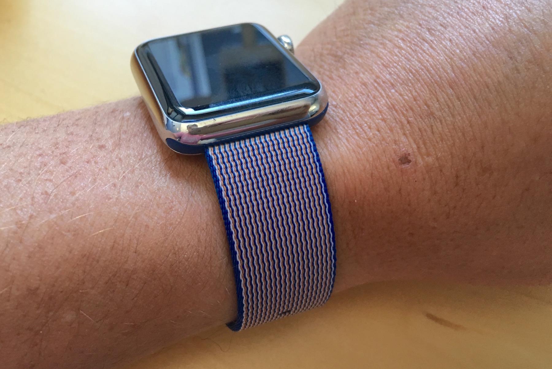 Royal blue woven nylon band