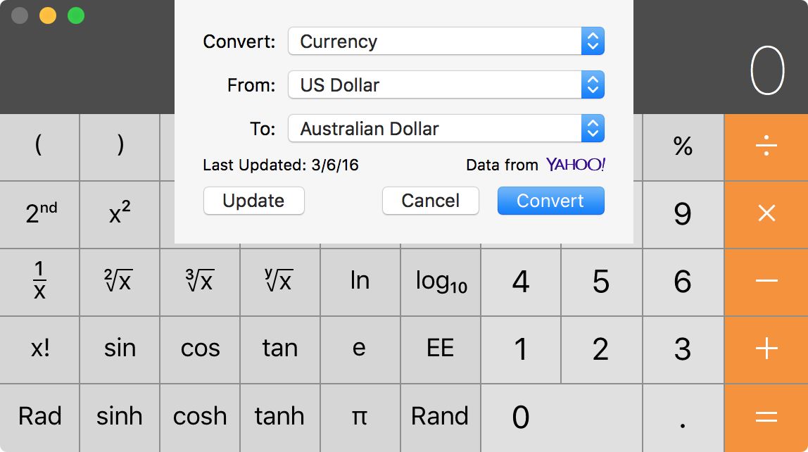 os x calculator conversion guide 5