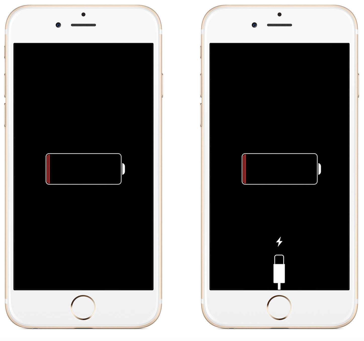 iphone not turning on - iPhone dead battery screens