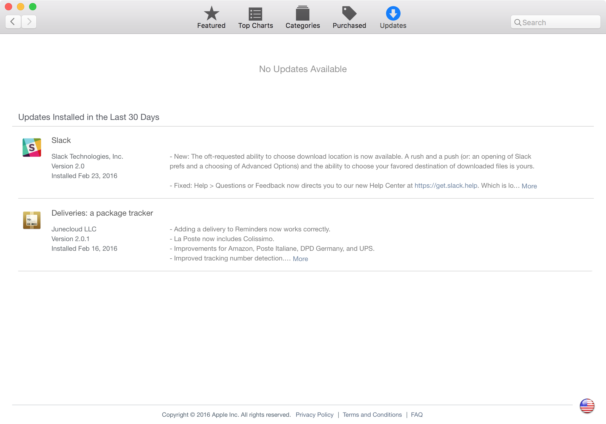 Mac App Store check for updates