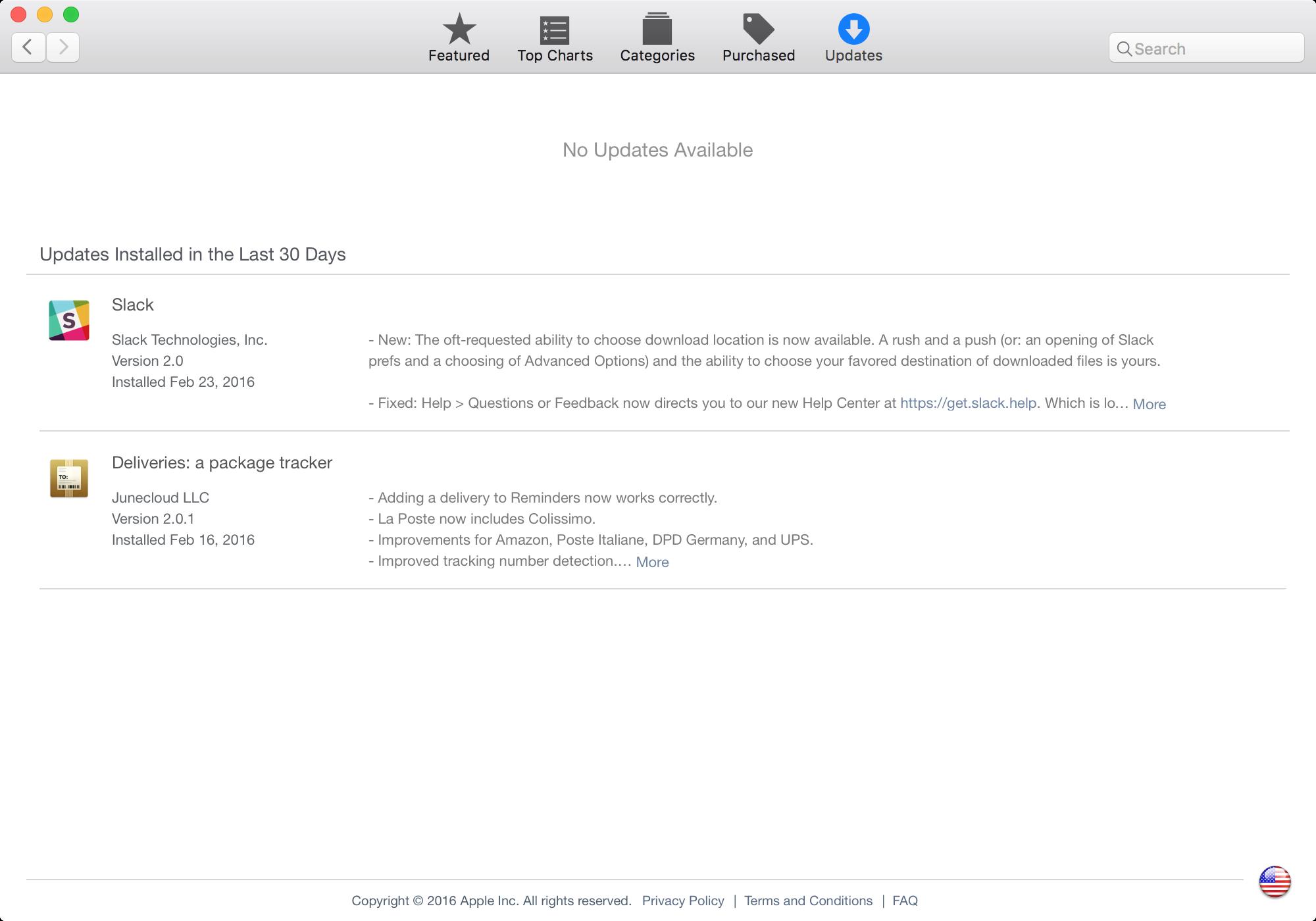 Mac App Store busca actualizaciones